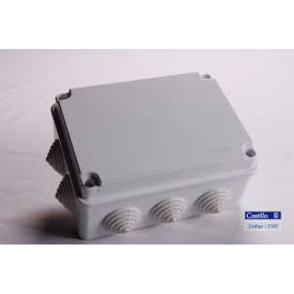 SEALED BOX BCO. 150x150x80 10 starts, IP 55, ABS
